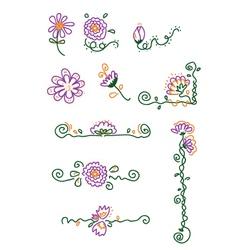 Flower elements vector