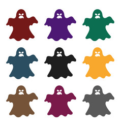 ghost icon in black style isolated on white vector image
