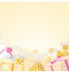 gift boxes vector image vector image