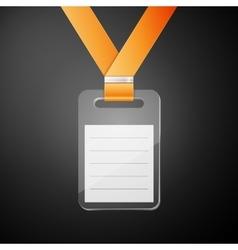 Plastic id badge vector image