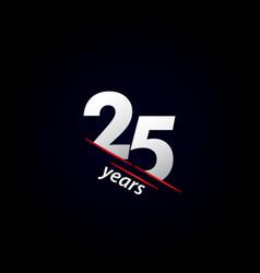 25 years anniversary celebration black and white vector