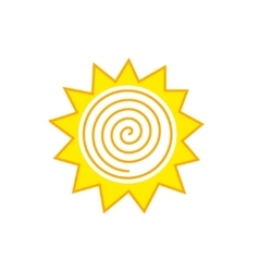 Abstract sun logo vector image