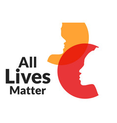 All lives matter concept template for background vector