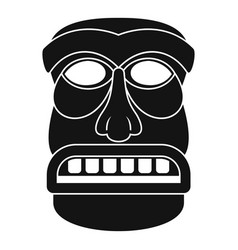 Aztec idol icon simple style vector