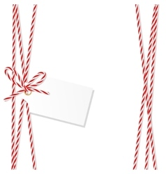 Background with bakers twine bow and ribbons vector