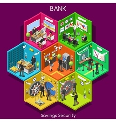 Bank 01 Cells Isometric vector