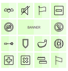 banner icons vector image