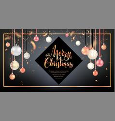 Beautiful christmas balls card vector