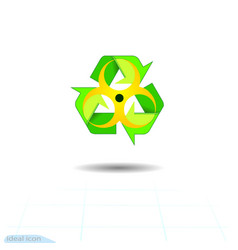 biohazard recycled eco icon recycle arrows vector image