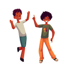 black african american boys kids having fun vector image