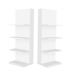 Blank display stand with shelves vector