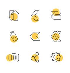 Briefcase share setting gear reset arrows vector