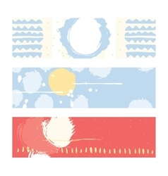 Bright abstract horizontal banners hand drawn vector