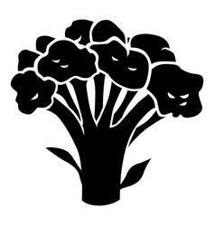 Broccoli cabbage silhouette icon vector