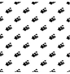 bulldozer pattern seamless vector image