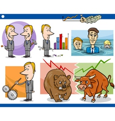 businessmen cartoon concepts set vector image vector image