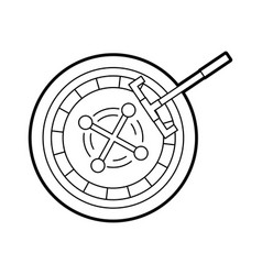 casino roulette with picker vector image