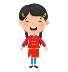 chinese kid vector image
