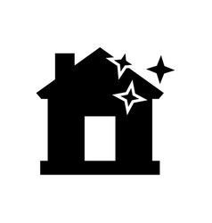 clean home icon in flat style vector image