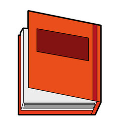 Closed thick book icon image vector