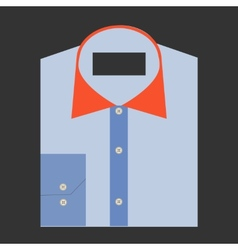 Color folded shirt with badge design concept vector image