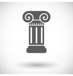 Column single icon vector