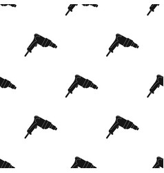 drill icon in black style isolated on white vector image