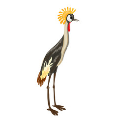 exotic bird icon cartoon style vector image