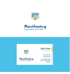 flat website logo and visiting card template vector image