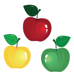 fruit icon apple isolated on white background elem vector image