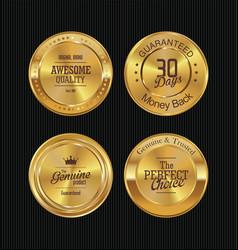 golden metal badges 1 vector image