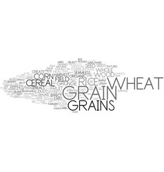Grain word cloud concept vector
