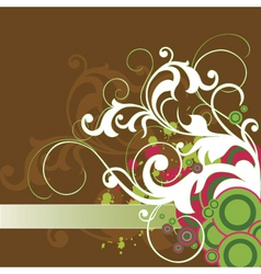 Graphic side element vector