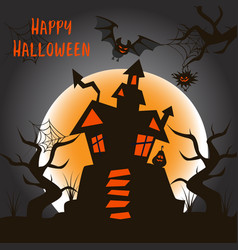 halloween poster with a castle vector image