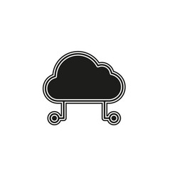 hosting cloud icon cloud computing technology vector image