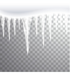 Icicles on a Transparent Background vector