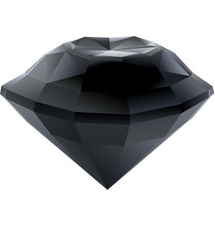 isolated faceted black diamond vector image
