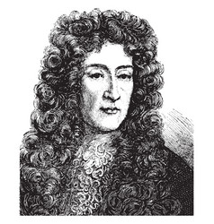 James ii of england vintage vector