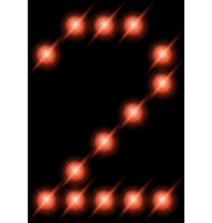 led digits 2 vector image