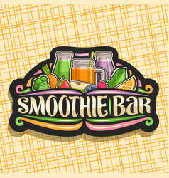 Logo for smoothie bar vector
