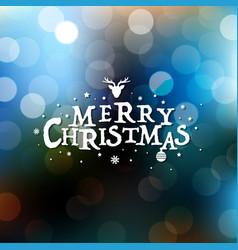 merry christmas card with bokeh vector image