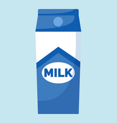 pack milk milk box paper box design food and vector image