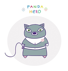 panda hero cat vector image