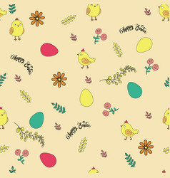pattern for the holiday of easter vector image