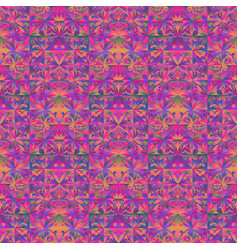 Polygonal abstract seamless mosaic floral pattern vector