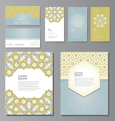 PrintBanners and visit cards set vector image