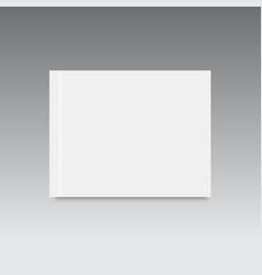 realistic blank closed magazine mockup template vector image