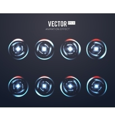 Realistic light effect rotating animation vector