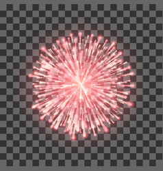 red fireworks festival beautiful firework vector image