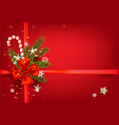 Red holiday decorations vector